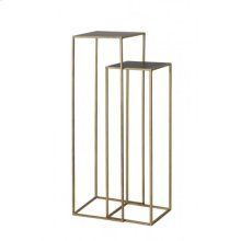 Side table S/2 30x30x100+35x35x120 cm BOCA m.black wash-gold