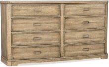Urban Elevation Eight-Drawer Dresser