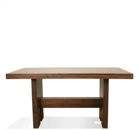 Terra Vista Gathering Height Dining Table Casual Walnut finish