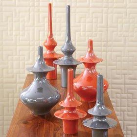 Minaret Vase-Orange-Sm