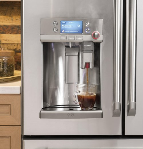 Clearance Model - One of a Kind - GE Cafe™ Series ENERGY STAR® 22.2 Cu. Ft. Counter-Depth French-Door Refrigerator with Keurig® K-Cup® Brewing System