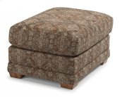 Coburn Fabric Ottoman without Nailhead Trim