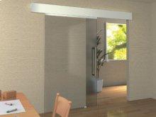 Barn Door Style Self-closing Sliding Glass Door System
