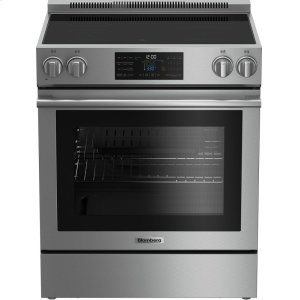 "Blomberg Appliances30"" electric stainless range with 5.7 cu ft self clean oven, 4 burner"