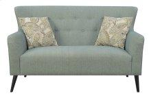 Emerald Home Milly Settee W/2 Pillows Blue Casino U3275-01-04