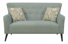 Emerald Home Milly Settee W/2 Pillows Blue Casino U3275-01-04