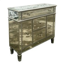 Contemporary Silver Accent Cabinet