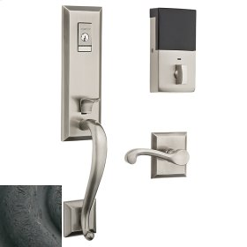 Distressed Oil-Rubbed Bronze Evolved Stonegate Handleset