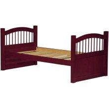 York Twin Captain's Bed, Mahogany