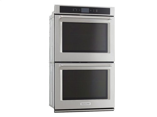 "Smart Oven+ 30"" Double Oven with Powered Attachments and PrintShield Finish - Stainless Steel"