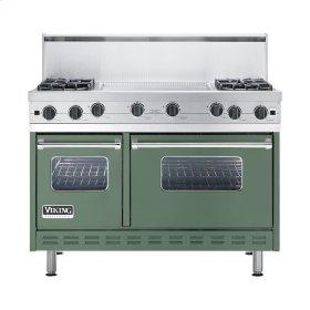 """Mint Julep 48"""" Open Burner Commercial Depth Range - VGRC (48"""" wide, four burners 24"""" wide griddle/simmer plate)"""