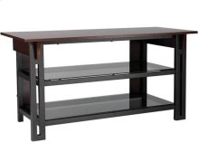 """Three-In-One TV/AV Stand Fits AV components and TVs up to 52"""""""