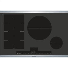 "30"" Induction Cooktop Benchmark Series - Black with Stainless Steel Strips"