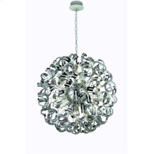 2068 Tiffany Collection Chandelier D:43in H:43in Lt:30 Chrome Finish (Elegant Cut Crystals)