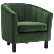 Prospect Channel Tufted Performance Velvet Armchair in Emerald Product Image