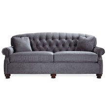 Sofa with Cherry Fluted Legs