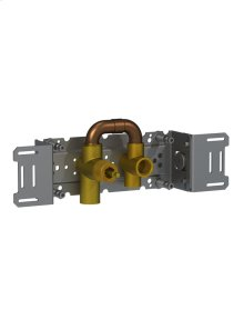 Single valve with fixed outlet