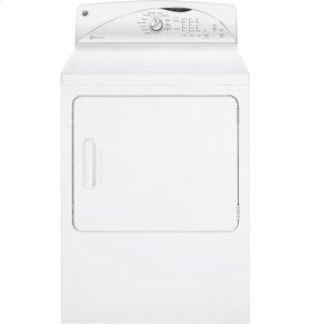 GE® 7.0 cu. ft. capacity Dura Drum electric dryer with HE SensorDry™