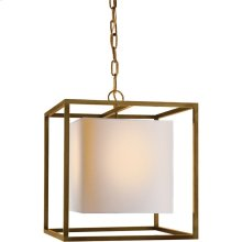 Visual Comfort SC5159HAB Eric Cohler Caged 1 Light 16 inch Hand-Rubbed Antique Brass Foyer Pendant Ceiling Light