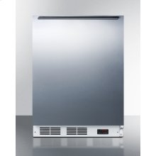 ADA Compliant Commercial Built-in Medical All-freezer Capable of -25 C Operation, With Wrapped Stainless Steel Door and Horizontal Handle