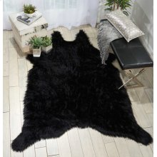 Fur Fl101 Black 5' X 7' Throw Blankets