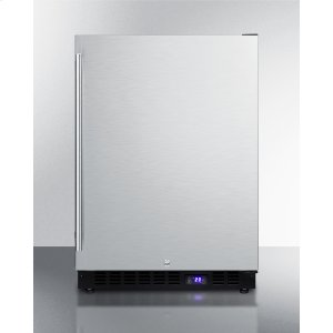 SummitFrost-free Outdoor All-freezer In Complete Stainless Steel, With Digital Thermostat, LED Lighting, and Lock; Built-in or Freestanding Use