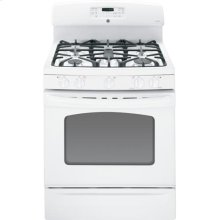 """GE® 30"""" Free-Standing Gas Range (This is a Stock Photo, actual unit (s) appearance may contain cosmetic blemishes. Please call store if you would like actual pictures). This unit carries our 6 month warranty, MANUFACTURER WARRANTY and REBATE NOT VALID with this item. ISI 32822"""