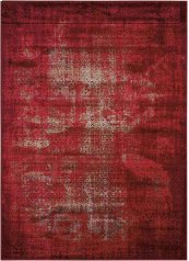 KARMA KRM01 RED RECTANGLE RUG 5'3'' x 7'4''