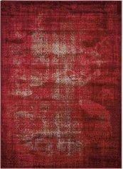 KARMA KRM01 RED RECTANGLE RUG 5'3'' x 7'4''