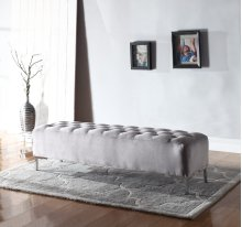 Upholstered Bench-grey