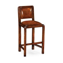 Counter Side Chair with Leather Upholstery