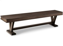 """Verona 72"""" Bench with Wood Seat"""