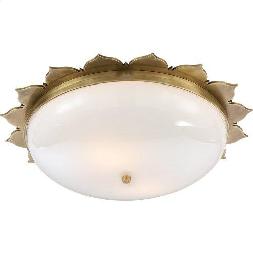 Visual Comfort AH4030NB-WG Alexa Hampton Rachel 2 Light 18 inch Natural Brass Flush Mount Ceiling Light