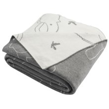 Ella Knit Throw - Light Grey/ivory