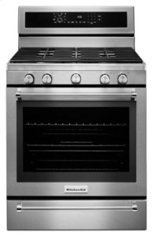 30-Inch 5 Burner Gas Convection Range with Warming Drawer - Stainless Steel