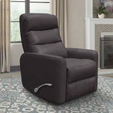 Hercules Chocolate Manual Swivel Glider Recliner