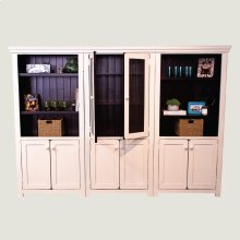 3 Tall Bookcase with 2 Doors