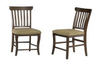 Venetian Dining Chairs Set of 2 with Cappuccino Cushion in Walnut