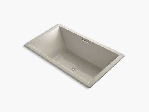 "Sandbar 72"" X 42"" Drop-in Vibracoustic Bath With Bask Heated Surface and Center Drain"
