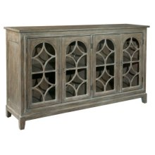Entertainment Console With Arched Doors