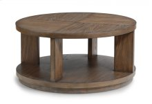Maximus Round Cocktail Table with Casters
