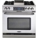 "36"" 4 Burner Gas Convection Range, Dual Fuel, Self Clean Product Image"