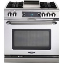 "36"" 4 Burner Gas Convection Range, Dual Fuel, Self Clean"