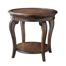 Continental Round Table Lamp - Weathered Nutmeg