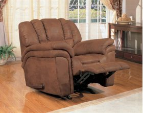 "ROCKER RECLINER, RUST/F 44""x39""x41""H"