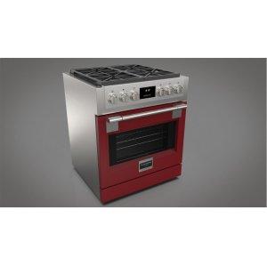 "Fulgor Milano30"" All Gas Pro Range - Glossy Red"