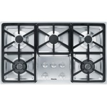 KM 3474 G Gas cooktop with 2 dual wok burners for particularly versatile cooking convenience.
