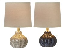2 pc. ppk. Crushed Mosaic Glass Accent Lamp. 40W. Max. (2 pc. ppk.)