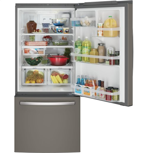GE® ENERGY STAR® 20.9 Cu. Ft. Bottom-Freezer Refrigerator