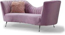 Eva Blush Velvet Sofa Product Image